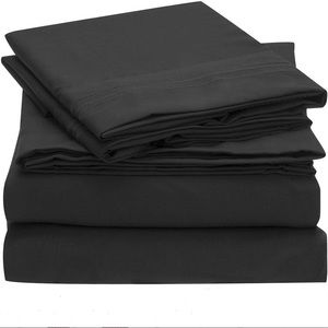 Other - Black 225 Thread Count Twin Sheet Set